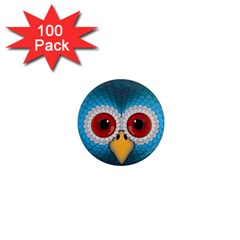 Bird Eyes Abstract 1  Mini Magnets (100 pack)