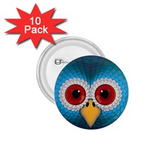 Bird Eyes Abstract 1.75  Buttons (10 pack)