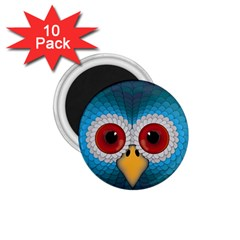 Bird Eyes Abstract 1.75  Magnets (10 pack)