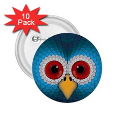 Bird Eyes Abstract 2 25  Buttons (10 Pack)