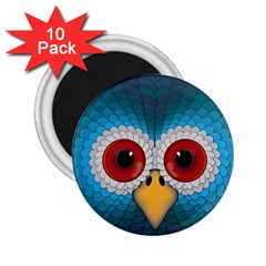 Bird Eyes Abstract 2.25  Magnets (10 pack)
