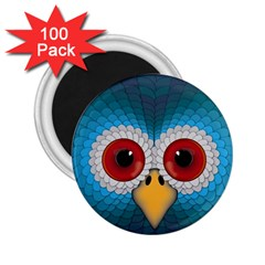 Bird Eyes Abstract 2.25  Magnets (100 pack)