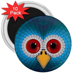 Bird Eyes Abstract 3  Magnets (10 Pack)