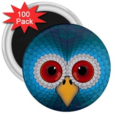 Bird Eyes Abstract 3  Magnets (100 Pack)