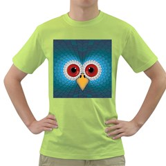 Bird Eyes Abstract Green T Shirt