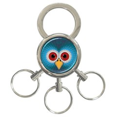 Bird Eyes Abstract 3-Ring Key Chains