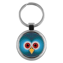 Bird Eyes Abstract Key Chains (Round)