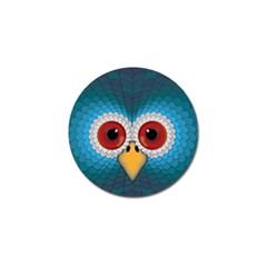 Bird Eyes Abstract Golf Ball Marker