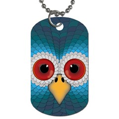 Bird Eyes Abstract Dog Tag (Two Sides)