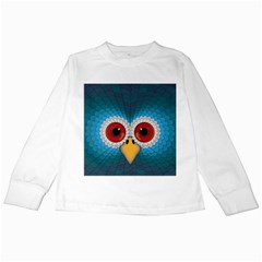 Bird Eyes Abstract Kids Long Sleeve T Shirts
