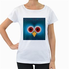Bird Eyes Abstract Women s Loose Fit T Shirt (white)