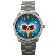 Bird Eyes Abstract Sport Metal Watch