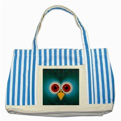 Bird Eyes Abstract Striped Blue Tote Bag