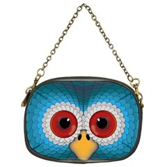 Bird Eyes Abstract Chain Purses (One Side)