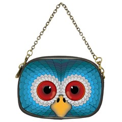 Bird Eyes Abstract Chain Purses (two Sides)