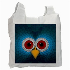 Bird Eyes Abstract Recycle Bag (Two Side)