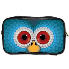 Bird Eyes Abstract Toiletries Bags 2 Side