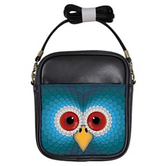 Bird Eyes Abstract Girls Sling Bags
