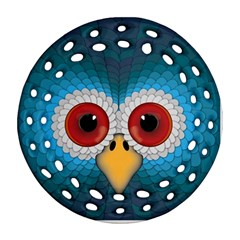 Bird Eyes Abstract Round Filigree Ornament (two Sides)