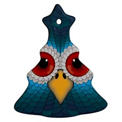 Bird Eyes Abstract Christmas Tree Ornament (two Sides)