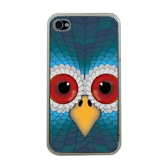 Bird Eyes Abstract Apple Iphone 4 Case (clear)