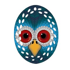 Bird Eyes Abstract Oval Filigree Ornament (two Sides)