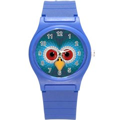 Bird Eyes Abstract Round Plastic Sport Watch (s)