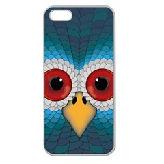 Bird Eyes Abstract Apple Seamless Iphone 5 Case (clear)