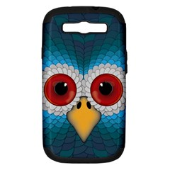 Bird Eyes Abstract Samsung Galaxy S Iii Hardshell Case (pc+silicone)