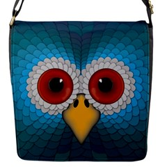 Bird Eyes Abstract Flap Messenger Bag (s)
