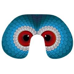 Bird Eyes Abstract Travel Neck Pillows