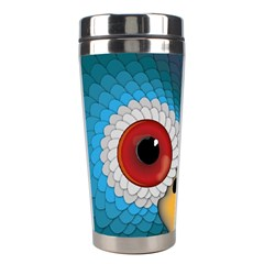 Bird Eyes Abstract Stainless Steel Travel Tumblers
