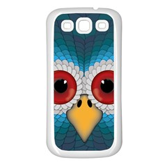 Bird Eyes Abstract Samsung Galaxy S3 Back Case (white)