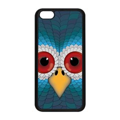 Bird Eyes Abstract Apple Iphone 5c Seamless Case (black)