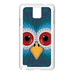 Bird Eyes Abstract Samsung Galaxy Note 3 N9005 Case (white)