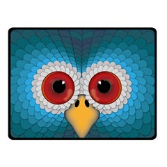 Bird Eyes Abstract Double Sided Fleece Blanket (small)