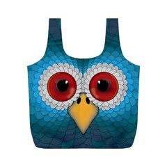 Bird Eyes Abstract Full Print Recycle Bags (m)