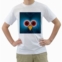 Bird Eyes Abstract Men s T-Shirt (White)