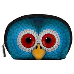 Bird Eyes Abstract Accessory Pouches (large)