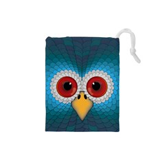 Bird Eyes Abstract Drawstring Pouches (small)