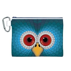 Bird Eyes Abstract Canvas Cosmetic Bag (l)