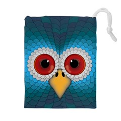 Bird Eyes Abstract Drawstring Pouches (extra Large)