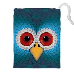 Bird Eyes Abstract Drawstring Pouches (xxl)