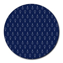 Anchor Pattern Round Mousepads