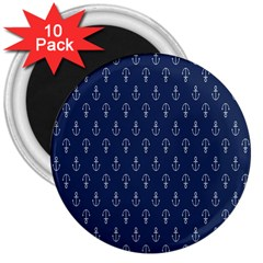 Anchor Pattern 3  Magnets (10 Pack)
