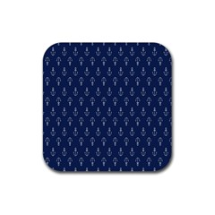 Anchor Pattern Rubber Square Coaster (4 Pack)