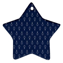 Anchor Pattern Star Ornament (two Sides)