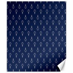 Anchor Pattern Canvas 8  x 10