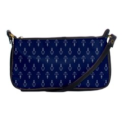 Anchor Pattern Shoulder Clutch Bags