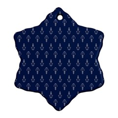 Anchor Pattern Snowflake Ornament (two Sides)